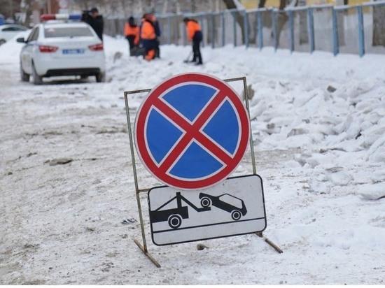 В Ижевске разместят временные знаки для проведения снегоочистительных работ
