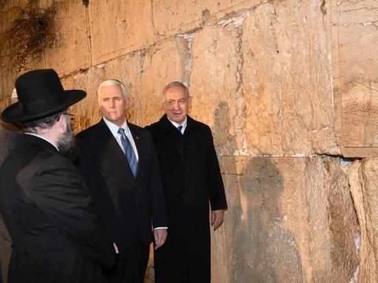 Премьер-министр и вице-президент США Майк Пенс посетили Стену плача