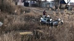 Очевидцы сняли на видео последствия страшной аварии в Астрахани