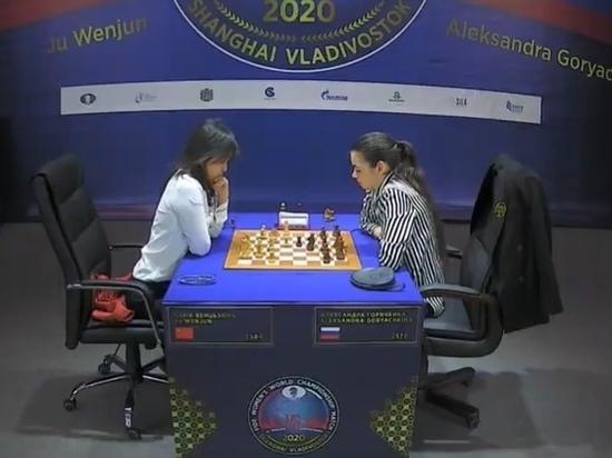 Горячкина из ЯНАО проигрывает в шахматном тай-брейке на ЧМ