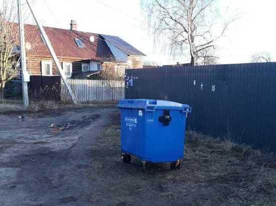 В Печорах заменили мусорные контейнеры