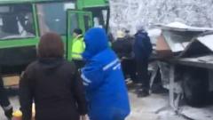 Жесткая авария в Пермском крае попала на видео: 15 пострадавших