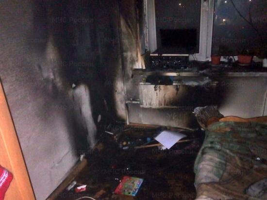 В Рославле в пустой квартире вспыхнул ночной пожар