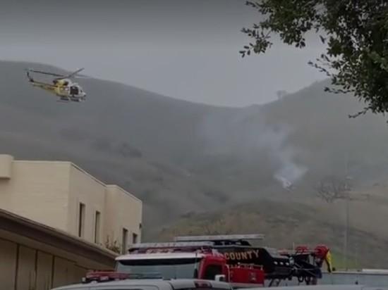 Обнародовано видео с места крушения вертолета с Коби Брайантом
