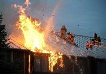 МЧС назвало возможную причину крупного пожара в Дунаево
