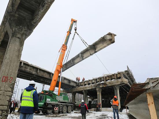 Хроники реконструкции путепровода на улице 9 января