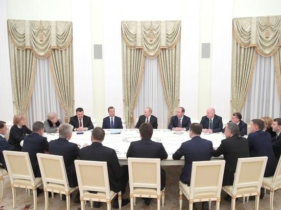 На встречу с Путиным все экс-министры оделись траурно