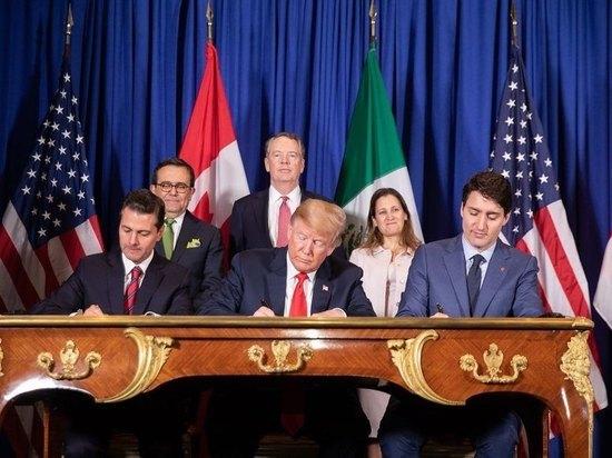 Трамп подписал пересмотренный торговый договор с Мексикой и Канадой