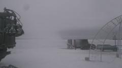 Как работает снежная пушка на Онежской набережной