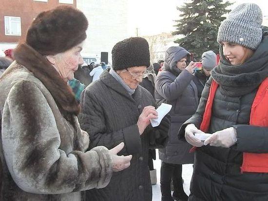 В Калязине прошла акция «Блокадный хлеб»