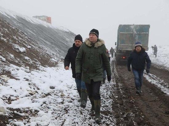 """Министр экологии проверил ход работ на полигоне """"Лесная""""в Серпухове"""