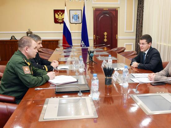 Губернатор и новый военком Ямала обсудили взаимодействие в работе