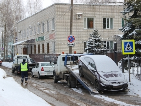 За месяц в Чебоксарах эвакуировали 160 машин, мешающих уборке снега
