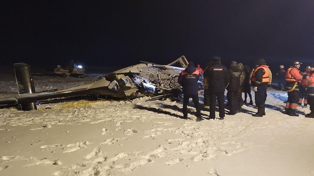 Депутат Хайруллин погиб при крушении вертолета: кадры с места авиакатастрофы