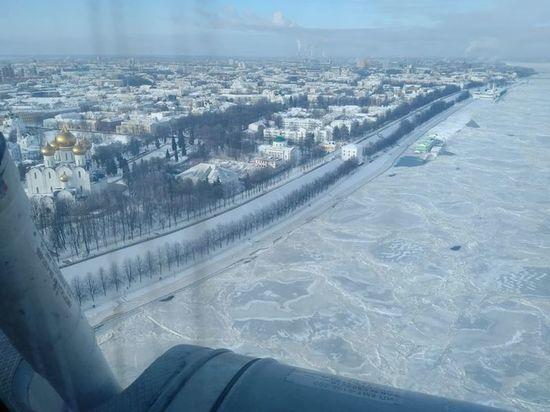 В Ярославле понизился уровень воды в Волге
