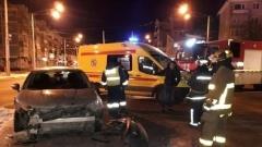 Момент ДТП на площади Победы в Калуге зафиксировала камера