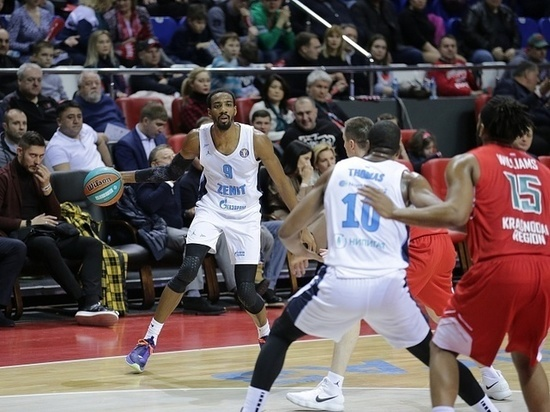 Баскетбольный «Зенит» потерпел шестое поражение подряд