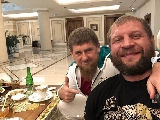 Боец Александр Емельяненко бросает пить в Чечне на спор за автомобиль