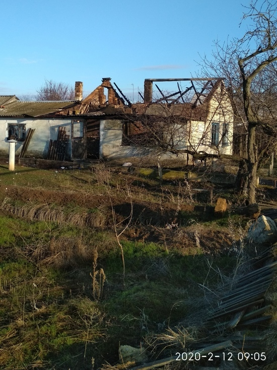 В Новоандреевке загорелся дом: оставили без присмотра печь