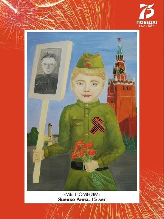Детские рисунки украсили остановки Ставрополя к 75-летию Великой Победы