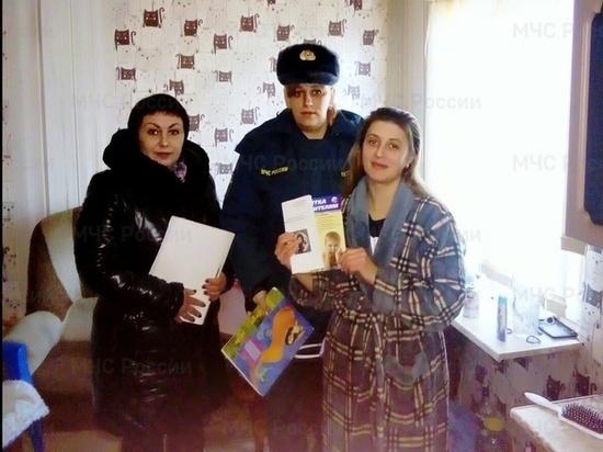 «Группы риска» в Тверской области навестили сотрудники МЧС