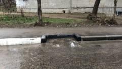 В Симферополе хотели ограничить подачу воды, а сегодня утечка рекой