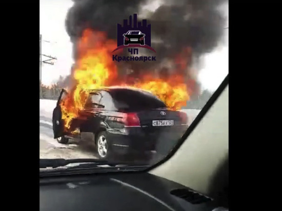 «Хороший был»: в Железногорске на ходу загорелся «Авенсис»