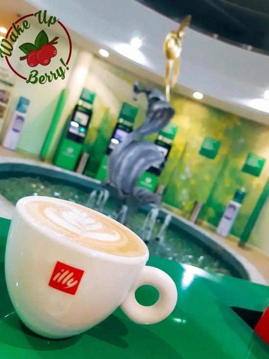 Новая кофейня «Проснись, ягодка» открылась прямо в здании псковского банка