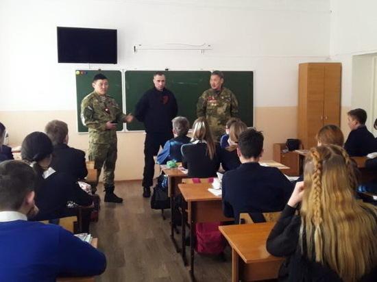 В Бурятии школьники встретились с воином-афганцем