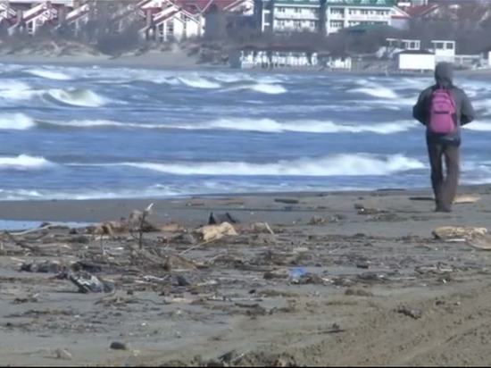 Шторм выбросил на пляжи Анапы мусор: его придётся убирать несколько дней