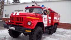 Пожарные увязли в снегу по пути к горящему зданию в Кемерове