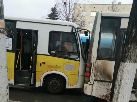 В Твери перед светофором столкнулись две маршрутки
