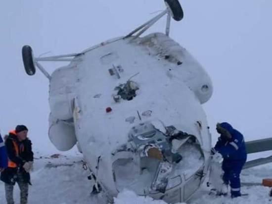 Ошибка пилотирования, техническая неисправность и погода: названы основные причины крушения вертолета в ЯНАО