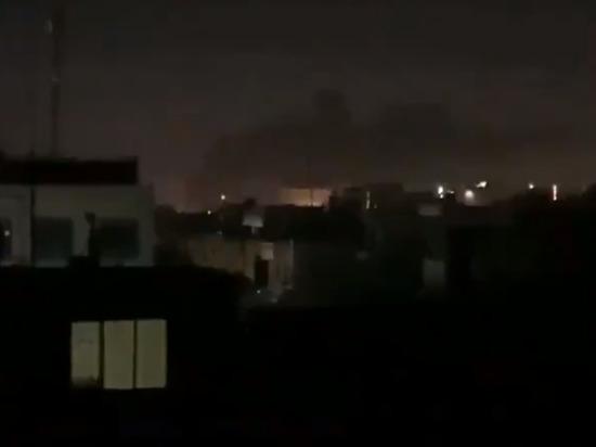 В Сети опубликовано видео с места обстрела объекта США в Багдаде