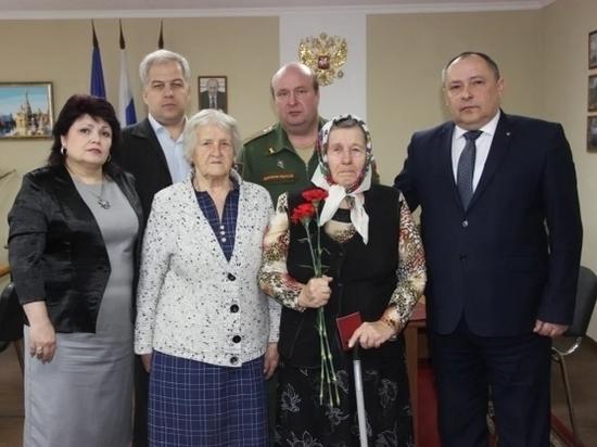 В Волгоградской области дочери погибшего героя вручили его награду