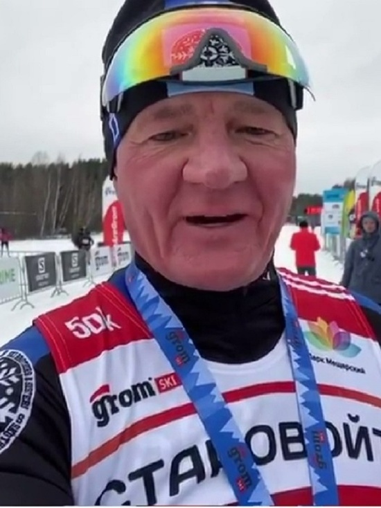 Курский губернатор  пробежал лыжный марафон