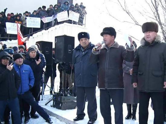 Кыргызстанцы протестуют против строительства кыргызско-китайского логистического центра
