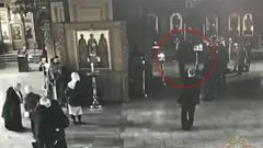 Напавший на алтарников храма святителя Николая Чудотворца попал на видео