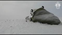 Появилось видео с места крушения вертолета Ми-8 в ЯНАО