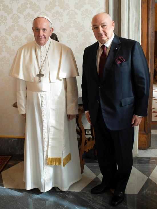 Вячеслав Моше Кантор рассказал Папе Римскому о будущем Форума памяти Холокоста