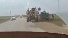 В Сирии американский и российский броневики не поделили дорогу: видео