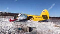 Жесткая посадка АН-2 в Магадане попала на видео