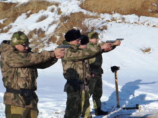 Росгвардейцы Бурятии устроили стрельбу ко Дню защитника Отечества