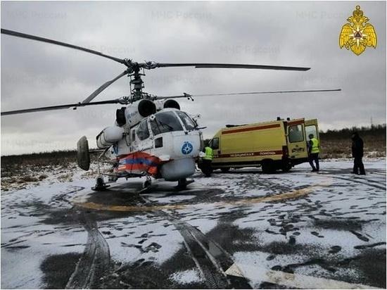 В Тверь на вертолете доставили мужчину в тяжелом состоянии