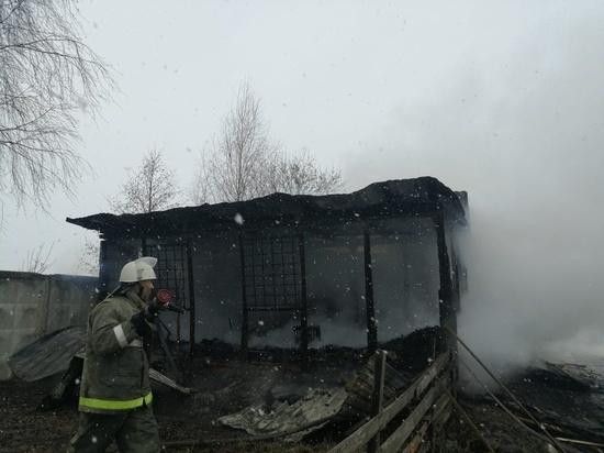 В Тарусе сгорело административное здание