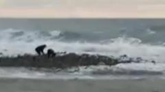 В Сочи двух подростков штормом смыло в море