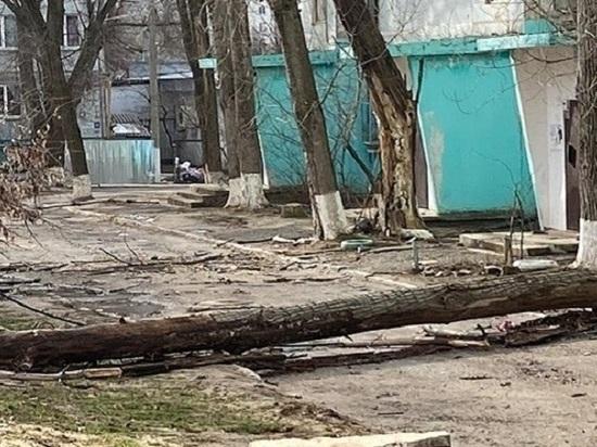 В Калмыкии ликвидируют последствия ураганного ветра