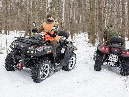 Тульские леса теперь патрулируют на квадроциклах и снегоходах