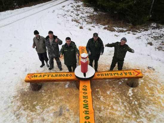 В Серпуховских лесах устанавливают лавочки-навигаторы