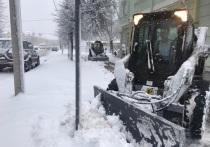 В Пскове усиленно убирают снег - фотофакт